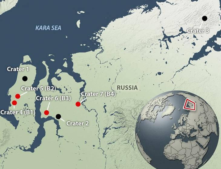 Zonas donde han aparecido los agujeros