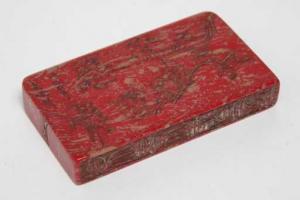 sello chino jaspe rojo