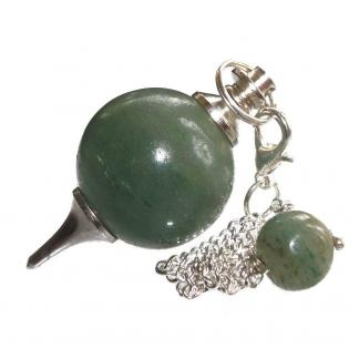 Pendulo esferico de Aventurina Verde