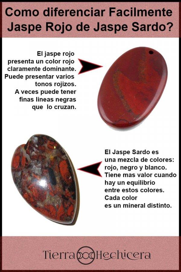 Diferencias jaspe rojo y sardo