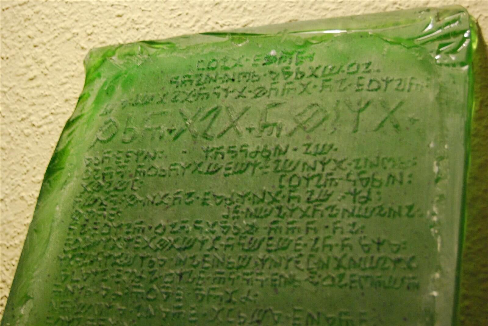 Representacion de la tabla esmeralda